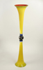 six foot yellow glass vase