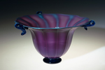 purple glass bowl