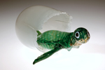 green glass turtle